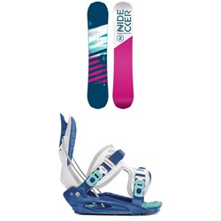 Nidecker Flake Snowboard ​+ Flow Micron Youth Snowboard Bindings - Kids' 2020