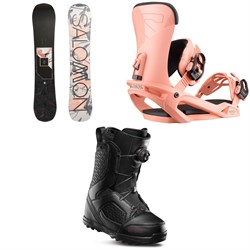 Salomon Wonder X Snowboard ​+ Salomon Vendetta Snowboard Bindings ​+ thirtytwo STW Boa Snowboard Boots - Women's 2020