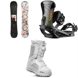 Salomon Wonder X Snowboard + Salomon Vendetta Snowboard Bindings + thirtytwo STW Boa Snowboard Boots - Women's
