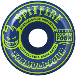 Spitfire Formula Four 99d Conical Full Navy/Lime Mash Up Skateboard Wheels