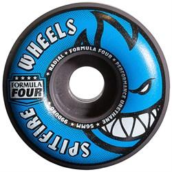 Spitfire Formula Four 99d Gray/Blue Radials Skateboard Wheels