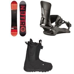 Nitro Prime Screen Snowboard 2020 + Rambler Snowboard Bindings 2020 + Burton Moto Boa R Snowboard Boots 2018
