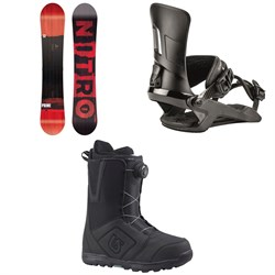 Nitro Prime Screen Snowboard  + Rambler Snowboard Bindings  + Burton Moto Boa Snowboard Boots 2018