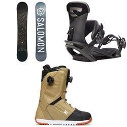 Salomon Sight X Snowboard + Salomon Trigger X Snowboard Bindings + DC Control Boa Snowboard Boots 2020
