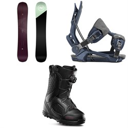 Nidecker Venus Snowboard + Flow Mayon Snowboard Bindings + thirtytwo STW Boa Snowboard Boots - Women's