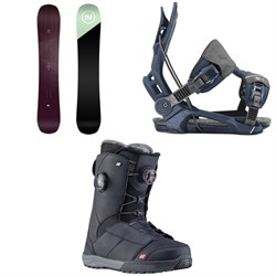 Nidecker Venus Snowboard ​+ Flow Mayon Snowboard Bindings ​+ K2 Kinsley Snowboard Boots - Women's