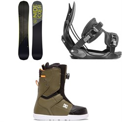 Nidecker Score Snowboard + Flow Alpha Snowboard Bindings + DC Scout Boa Snowboard Boots