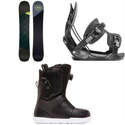 Nidecker Merc Snowboard + Flow Alpha Snowboard Bindings + DC Scout Boa Snowboard Boots