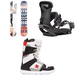 Salomon Sleepwalker X Snowboard + Salomon Trigger X Snowboard Bindings + DC Phase Snowboard Boots