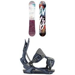 Nitro Mystique Snowboard + Flow Mayon Snowboard Bindings - Women's