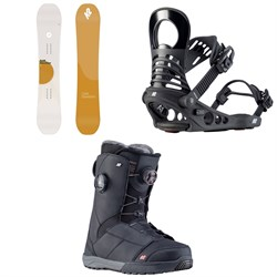 K2 Cold Shoulder Snowboard ​+ Meridian Snowboard Bindings ​+ Kinsley Snowboard Boots - Women's
