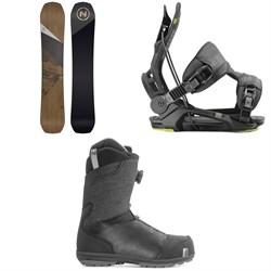 Nidecker Escape Snowboard + Flow Fenix Snowboard Bindings + Nidecker Aero Boa Coiler Snowboard Boots 2020