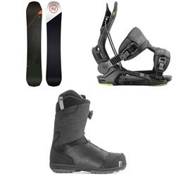 Nidecker Platinum Snowboard + Flow Fenix Snowboard Bindings + Nidecker Aero Boa Coiler Snowboard Boots 2020