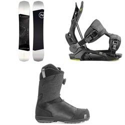 Nidecker Sensor Snowboard  + Flow Fenix Snowboard Bindings + Nidecker Aero Boa Coiler Snowboard Boots 2020