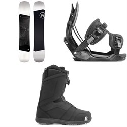 Nidecker Sensor Snowboard + Flow Alpha Snowboard Bindings + Nidecker Ranger Boa Snowboard Boots