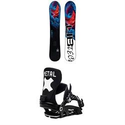 Lib Tech Dynamo C3 Snowboard + Bent Metal Axtion Snowboard Bindings 2021