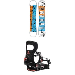 GNU Money C2E Snowboard ​+ Bent Metal Joint Snowboard Bindings 2021