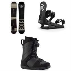 Ride Manic Snowboard + C-2 Snowboard Bindings + Anthem Snowboard Boots 2021