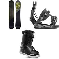 Nidecker Score Snowboard + Flow Alpha Snowboard Bindings + thirtytwo STW Boa Snowboard Boots