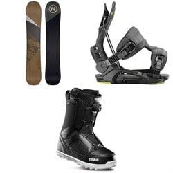 Nidecker Escape Snowboard + Flow Fenix Snowboard Bindings + thirtytwo STW Boa Snowboard Boots