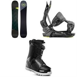 Nidecker Merc Snowboard + Flow Fenix Snowboard Bindings + thirtytwo STW Boa Snowboard Boots