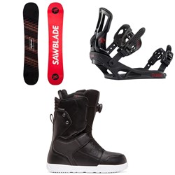 Rossignol Sawblade Snowboard + Battle Snowboard Bindings + DC Scout Boa Snowboard Boots 2020
