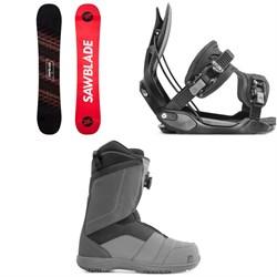 Rossignol Sawblade Snowboard + Flow Alpha Snowboard Bindings + Nidecker Ranger Boa Snowboard Boots 2020