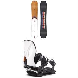 Arbor Shiloh Camber Snowboard + Cypress LTD Snowboard Bindings