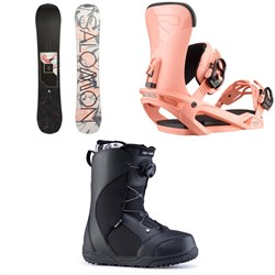 Salomon Wonder X Snowboard ​+ Salomon Vendetta Snowboard Bindings ​+ Ride Harper Snowboard Boots - Women's 2020