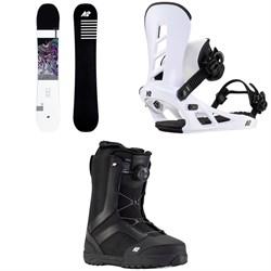 K2 Raygun Snowboard + Sonic Snowboard Bindings + Raider Snowboard Boots 2021