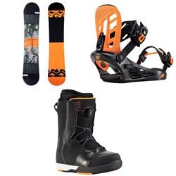 K2 Vandal Snowboard + Vandal Snowboard Bindings + Vandal Snowboard Boots - Boys' 2021