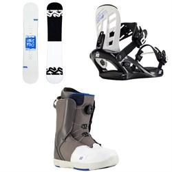 K2 Kandi Snowboard + Kat Snowboard Bindings + Kat Snowboard Boots - Girls' 2021
