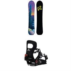 GNU Klassy C2X Snowboard + Bent Metal Metta Snowboard Bindings - Women's 2021