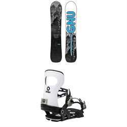 GNU Antigravity C3 Snowboard ​+ Bent Metal Joint Snowboard Bindings 2021