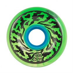 Santa Cruz Slime Balls Swirly Trans Green Swirl 78a Skateboard Wheels