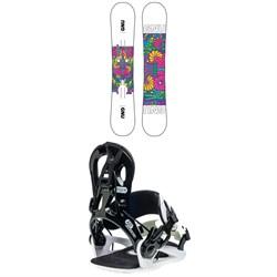 GNU Asym B-Nice BTX Snowboard + B-Real Snowboard Bindings - Women's 2021