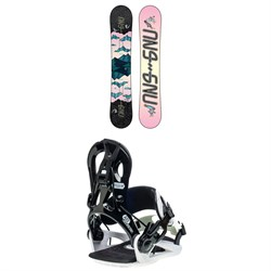 GNU Asym Velvet C2 Snowboard + B-Real Snowboard Bindings - Women's 2021