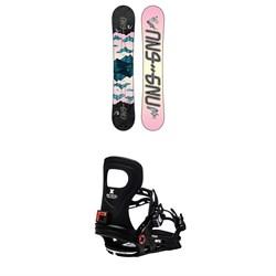 GNU Asym Velvet C2 Snowboard + Bent Metal Metta Snowboard Bindings - Women's 2021