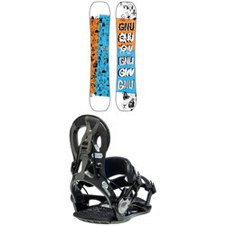 GNU Money C2E Snowboard ​+ Cheeter Snowboard Bindings 2021