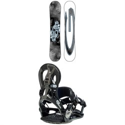 GNU Carbon Credit Asym BTX Snowboard ​+ Cheeter Snowboard Bindings 2021