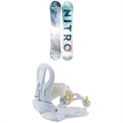 Nitro Lectra Snowboard + Rhythm Snowboard Bindings - Women's 2021