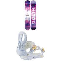 Nitro Mystique Snowboard + Rhythm Snowboard Bindings - Women's 2021