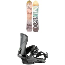 Nitro Drop Snowboard + Cosmic Snowboard Bindings - Women's 2021