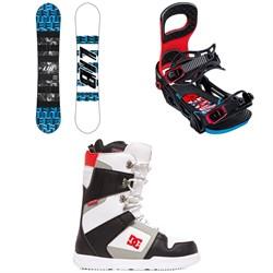 Lib Tech Skate Banana BTX Snowboard + Bent Metal Joint Snowboard Bindings + DC Phase Snowboard Boots