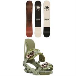 Arbor Coda Rocker Snowboard + Cypress Snowboard Bindings