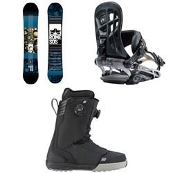 Rome Reverb Rocker SE Snowboard + Rome 390 Boss Snowboard Bindings  + K2 Boundary Snowboard Boots