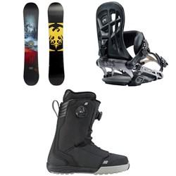Never Summer Snowtrooper Snowboard + Rome 390 Boss Snowboard Bindings + K2 Boundary Snowboard Boots