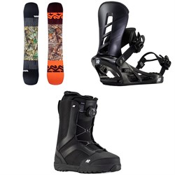 K2 Afterblack Snowboard ​+ Sonic Snowboard Bindings ​+ Raider Snowboard Boots 2021