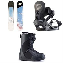 K2 Bright Lite Snowboard + K2 Cassette Snowboard Bindings + Ride Harper Snowboard Boots - Women's 2020