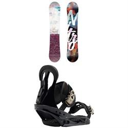 Nitro Mystique Snowboard - Women's  + Burton Citizen Snowboard Bindings - Women's 2019